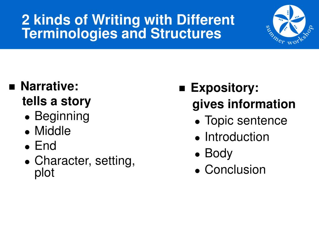 2 kinds of Writing with Different Terminologies and Structures