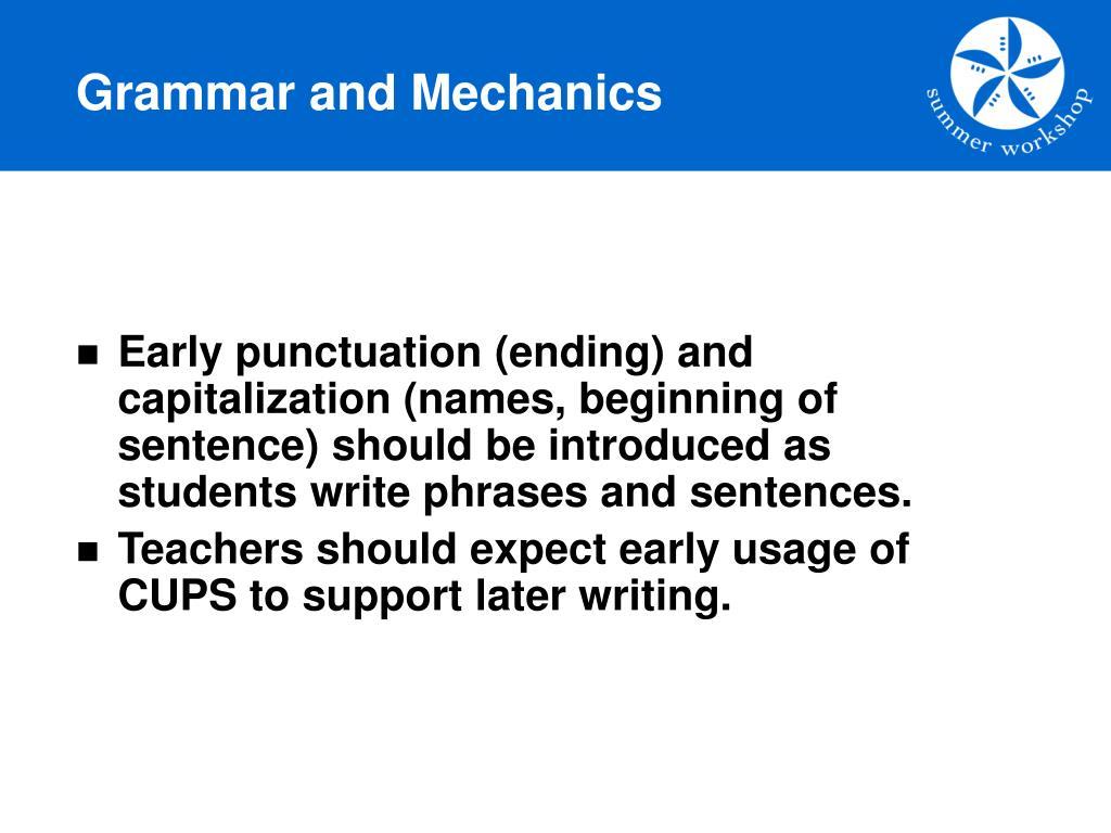 Grammar and Mechanics
