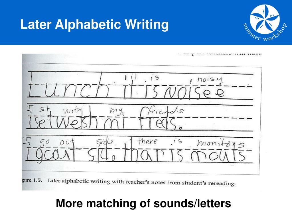 Later Alphabetic Writing