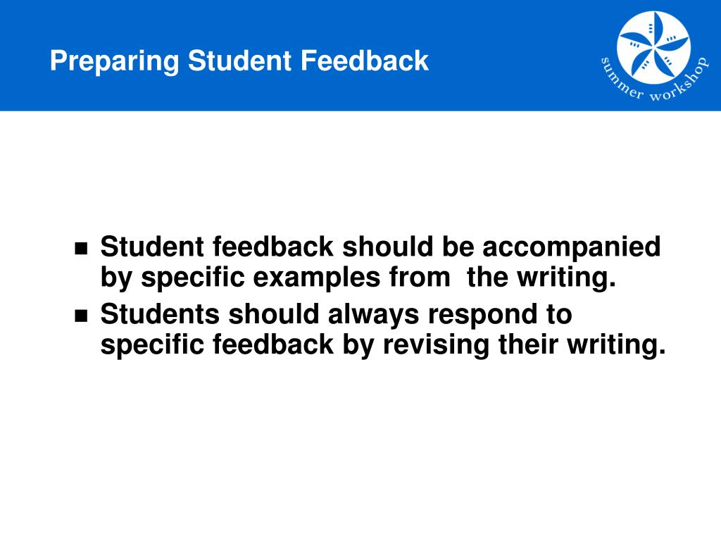 Preparing Student Feedback