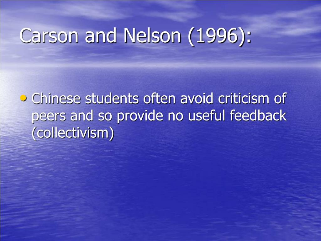 Carson and Nelson (1996):