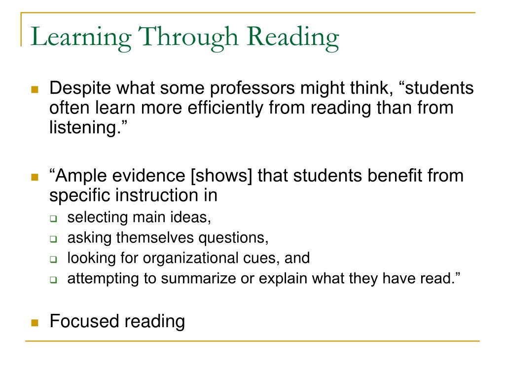 Learning Through Reading
