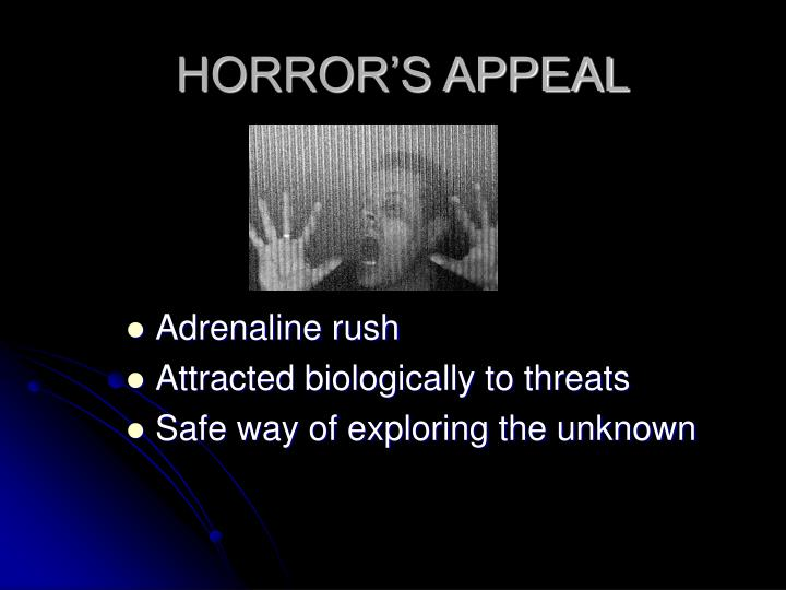 HORROR'S APPEAL