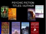 psychic fiction titles author