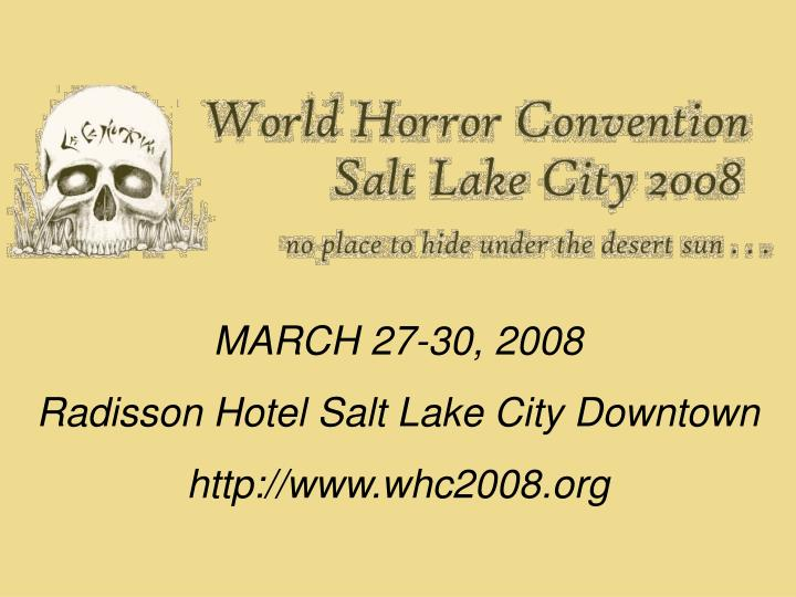 MARCH 27-30, 2008