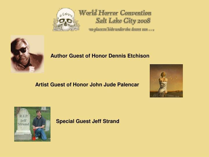 Author Guest of Honor Dennis Etchison