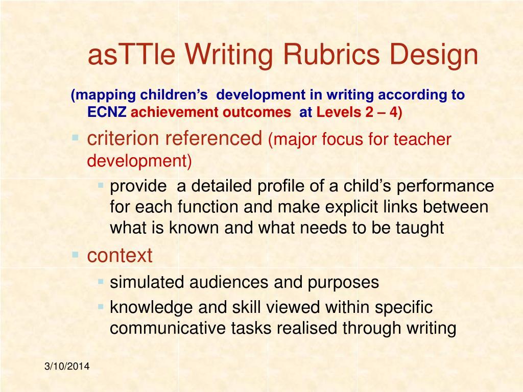 asTTle Writing Rubrics Design