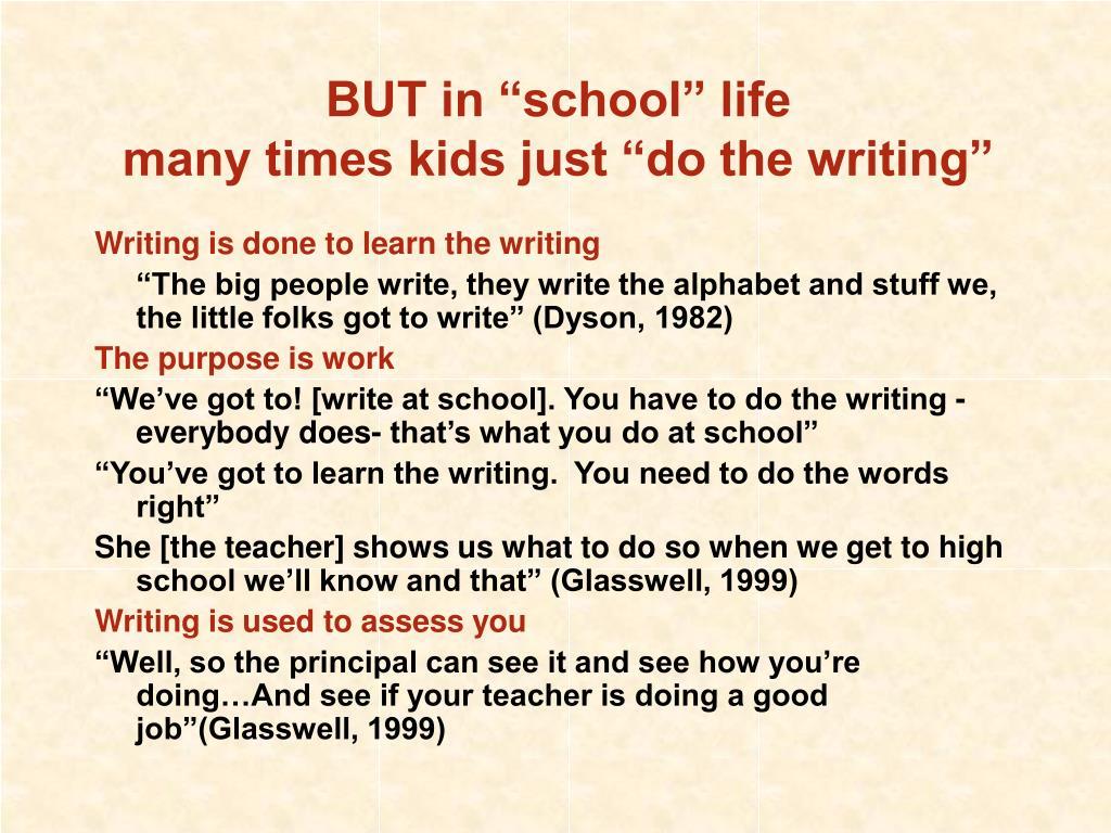"""BUT in """"school"""" life"""