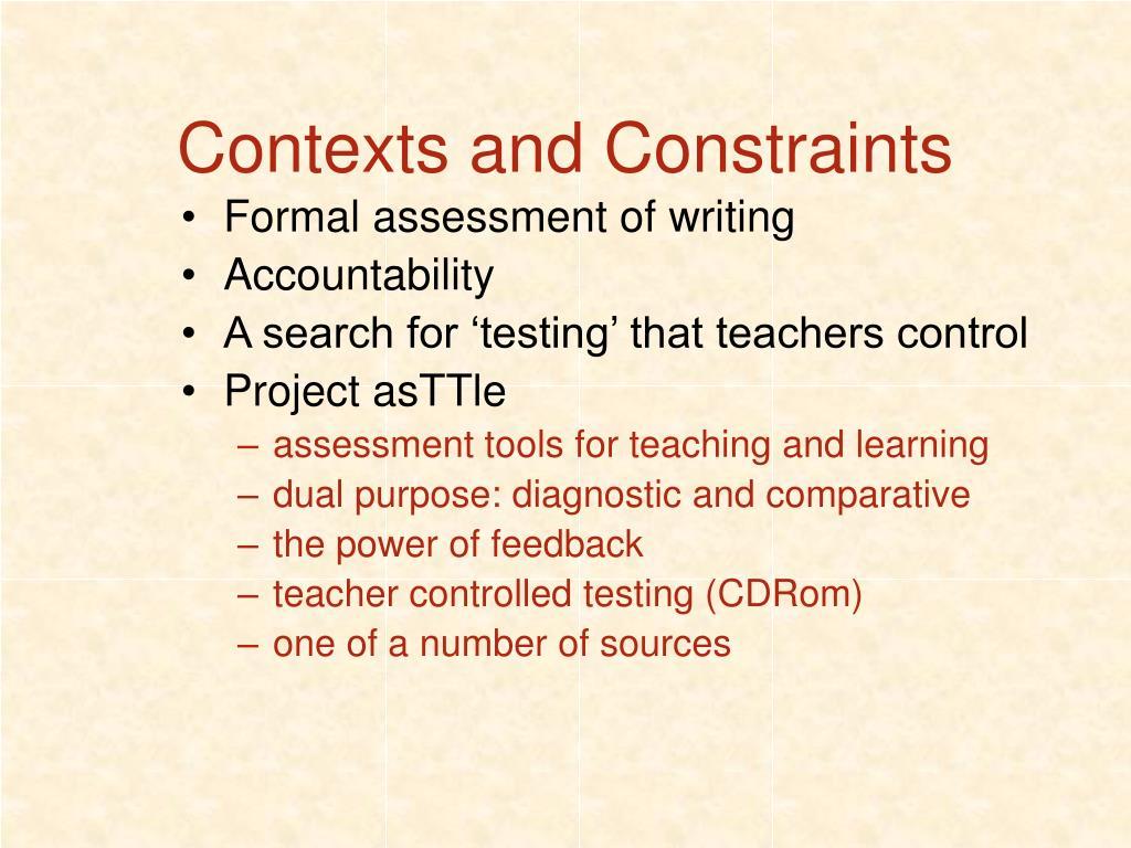 Contexts and Constraints