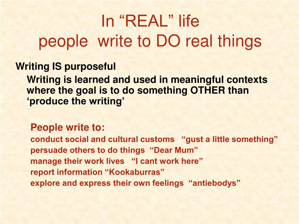 """In """"REAL"""" life"""