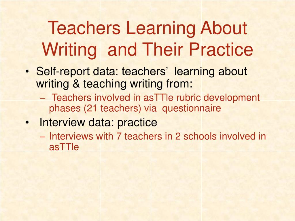 Teachers Learning About Writing  and Their Practice