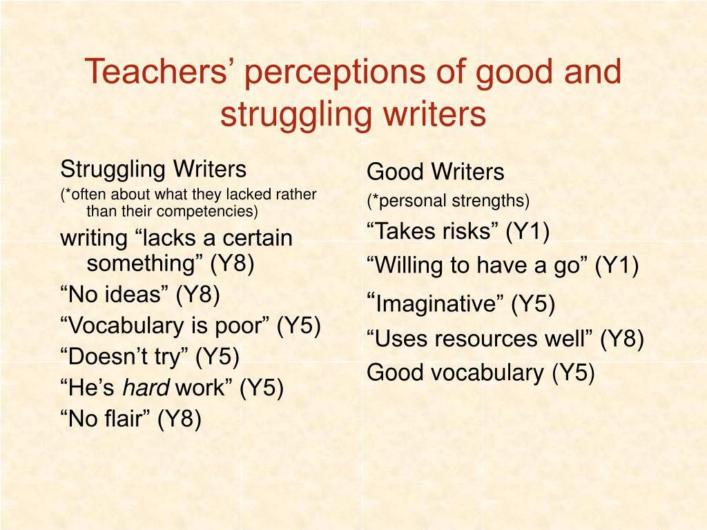 Struggling Writers