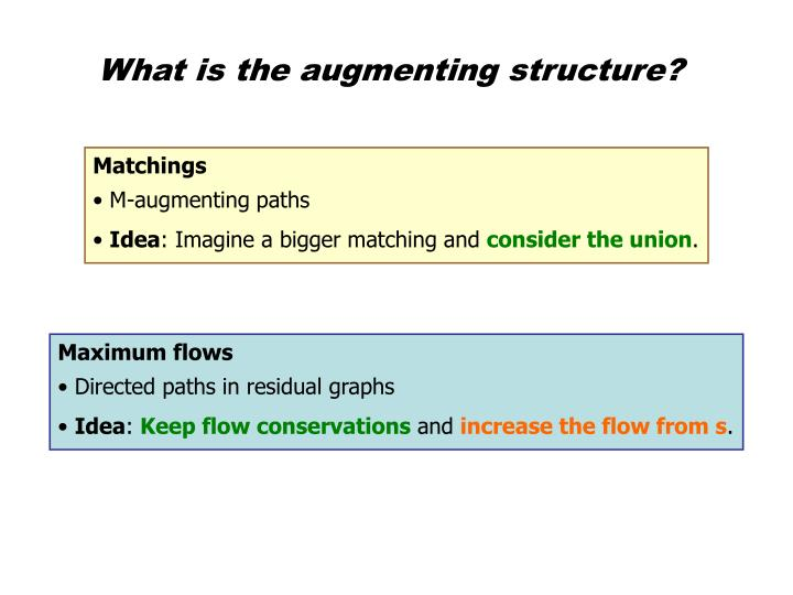 What is the augmenting structure?
