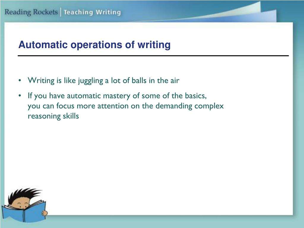 Automatic operations of writing