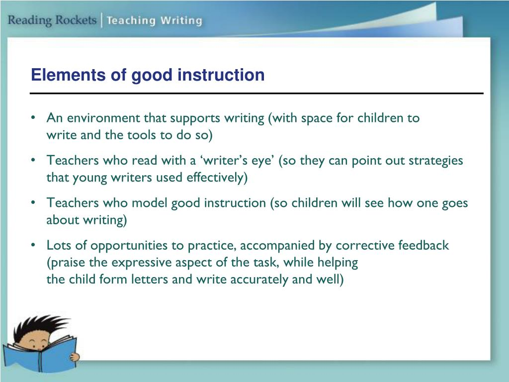 Elements of good instruction