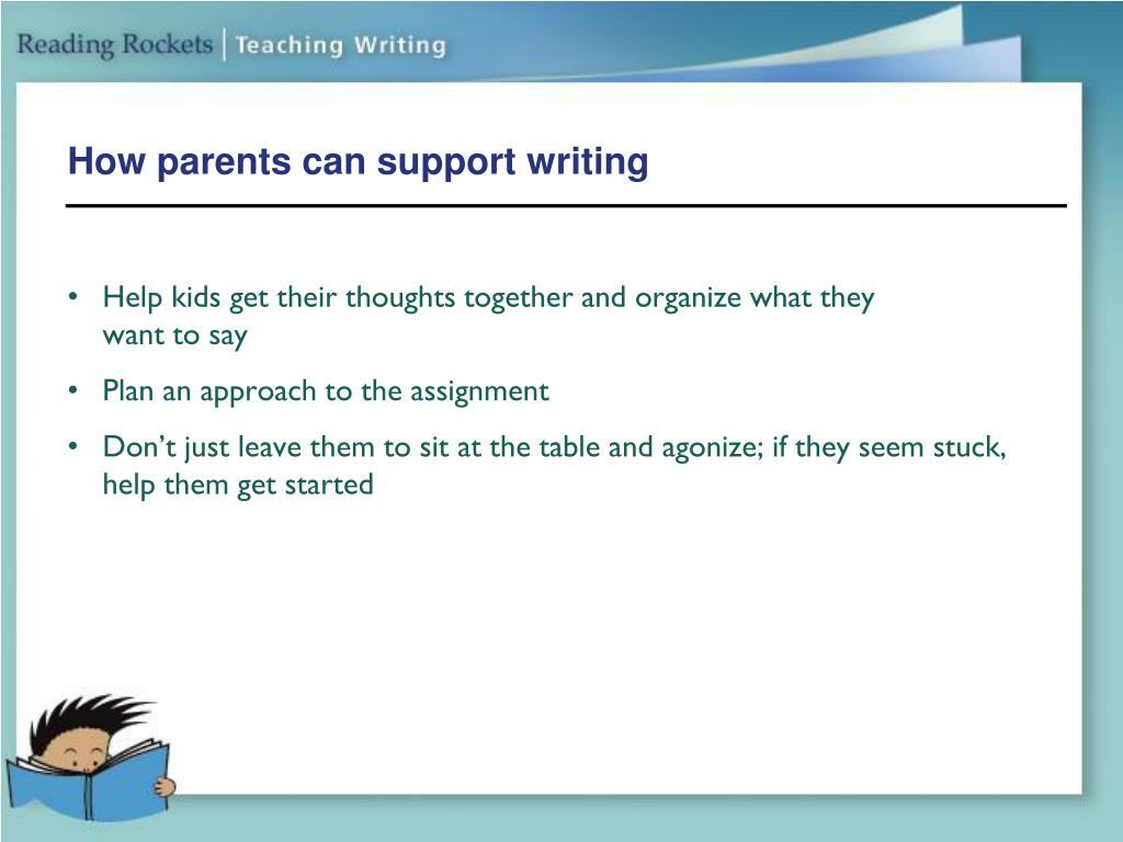 How parents can support writing