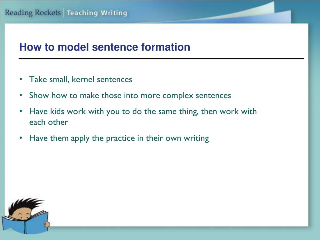 How to model sentence formation