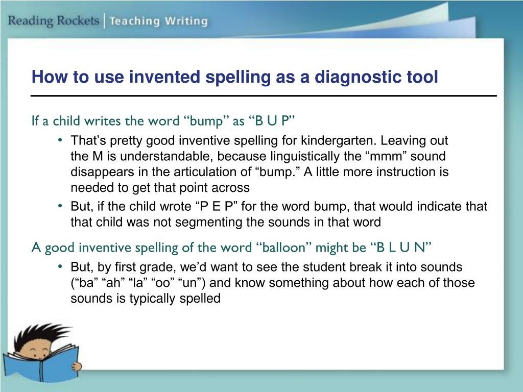 How to use invented spelling as a diagnostic tool