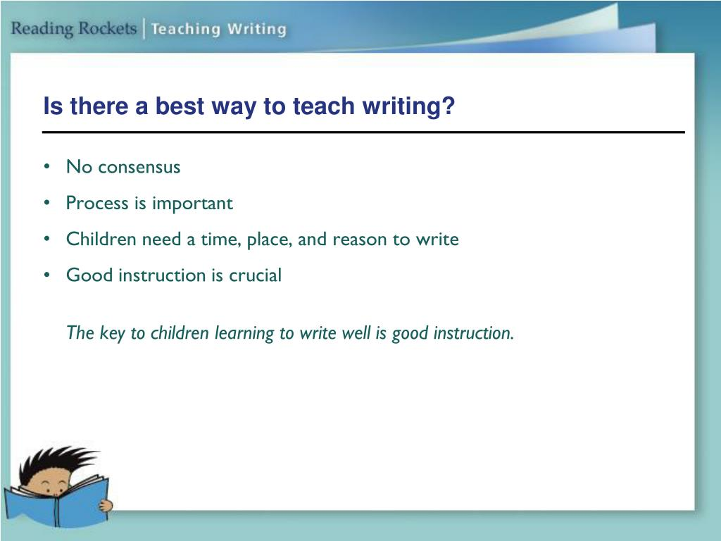 Is there a best way to teach writing?