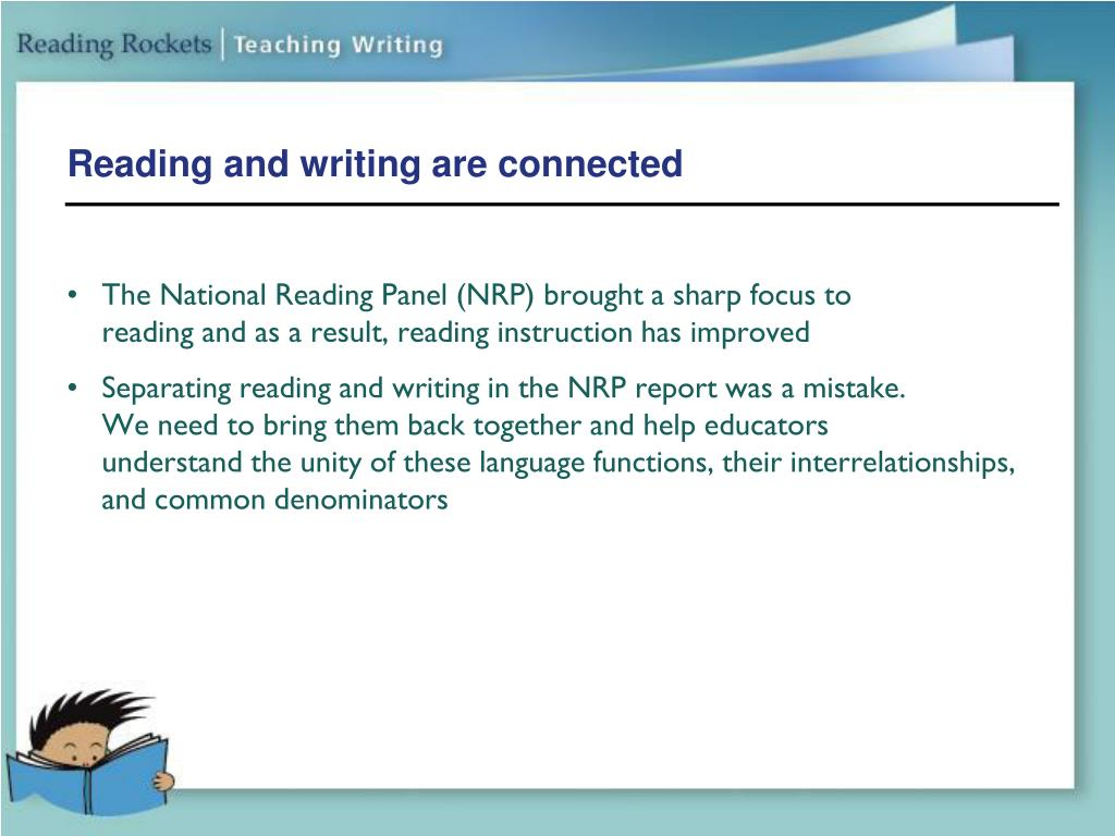 Reading and writing are connected