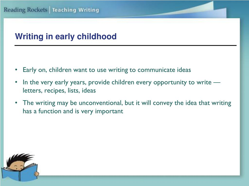 Writing in early childhood