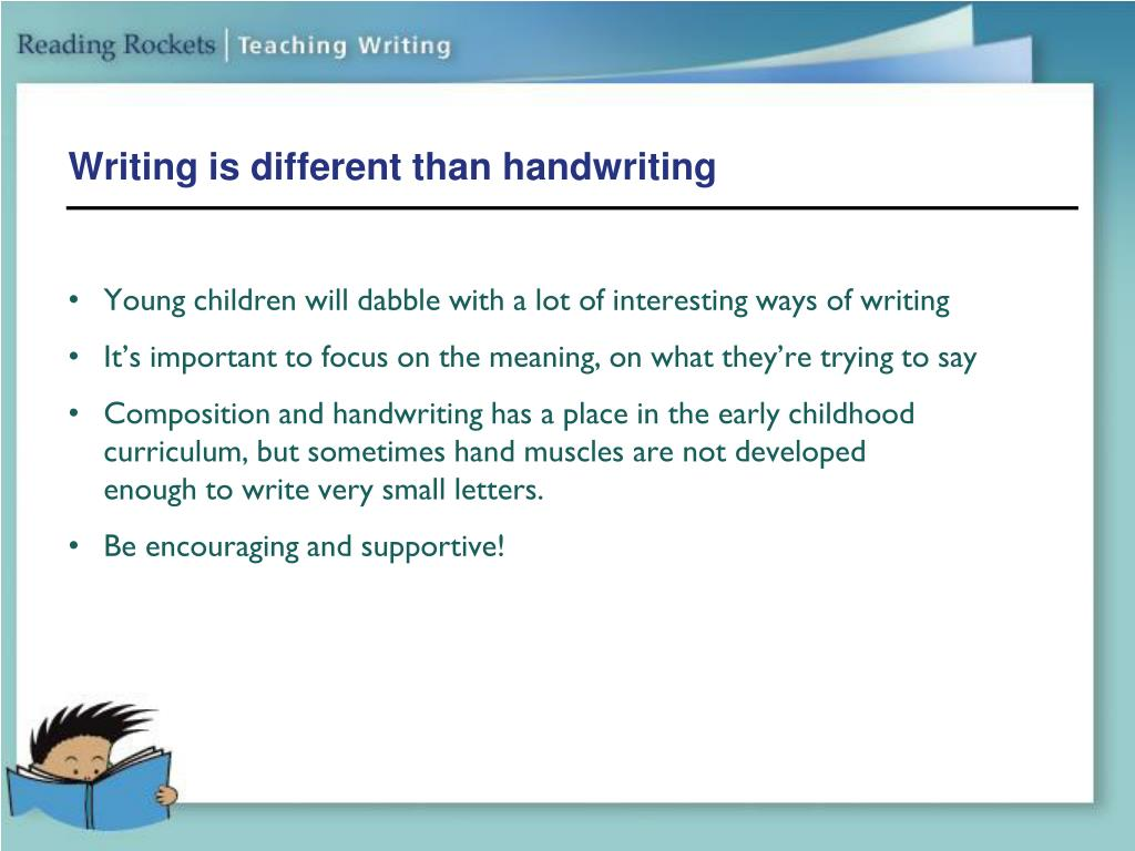 Writing is different than handwriting