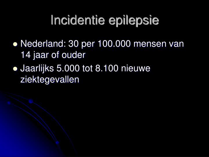 Incidentie epilepsie