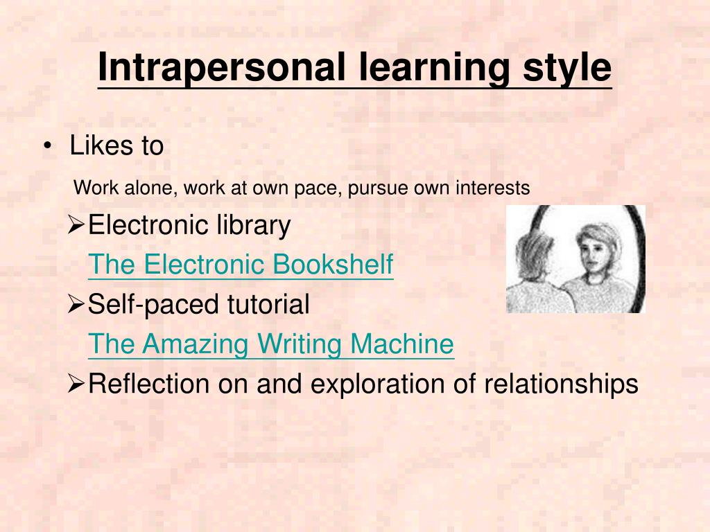Intrapersonal learning style