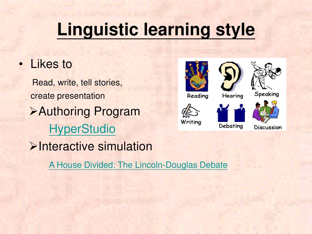 Linguistic learning style