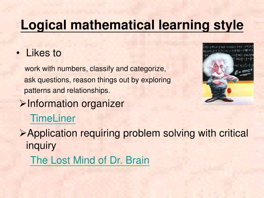 Logical mathematical learning style