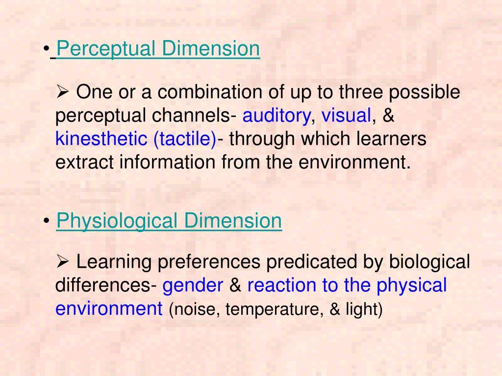 Perceptual Dimension