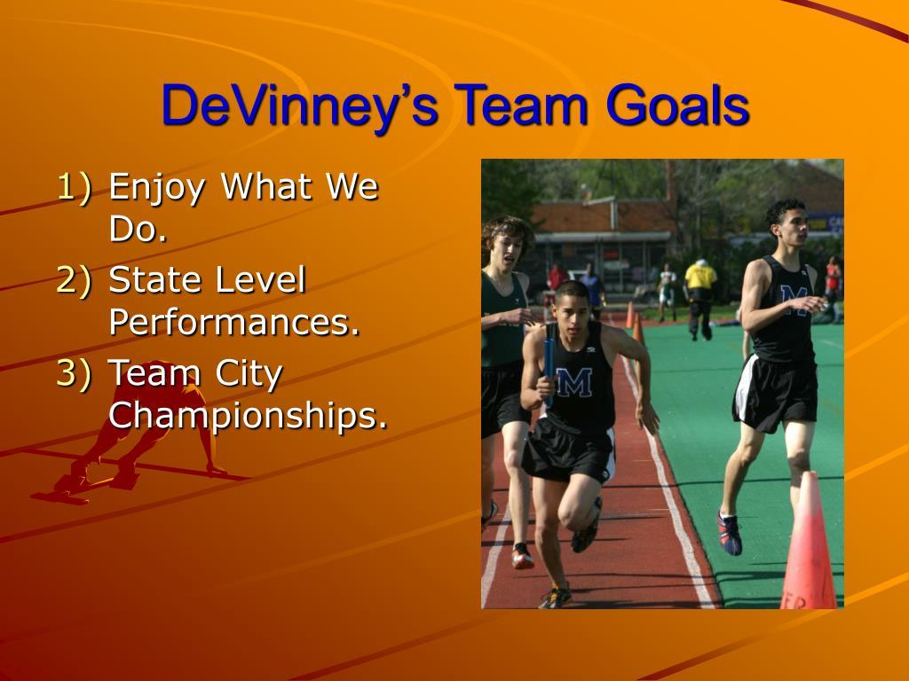 DeVinney's Team Goals