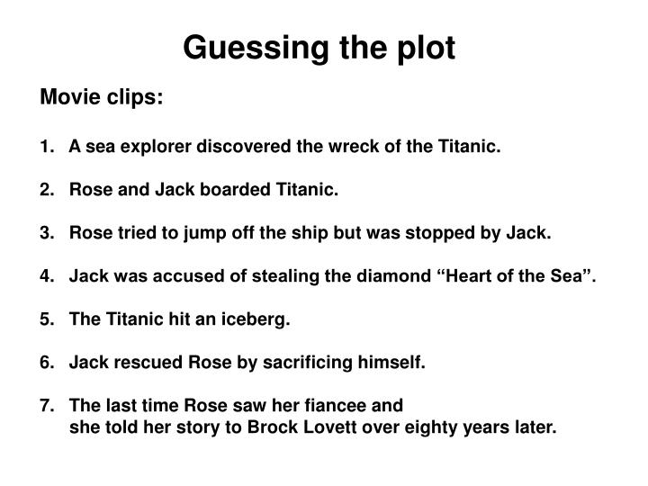 Guessing the plot