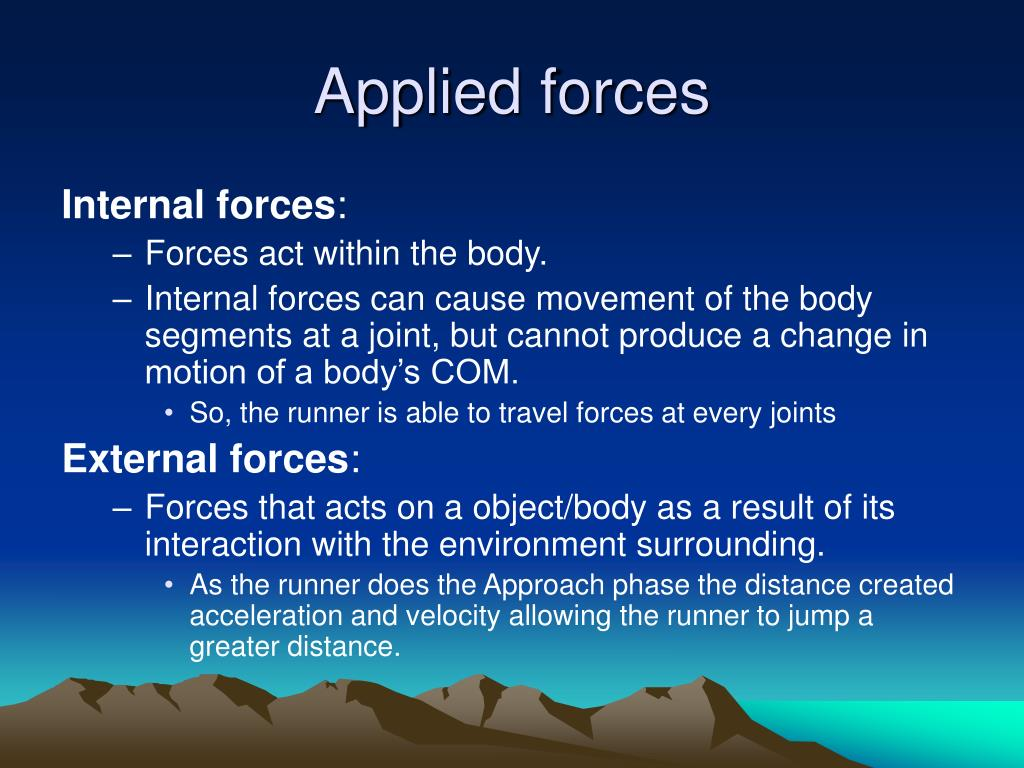 Applied forces