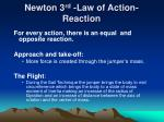 newton 3 rd law of action reaction