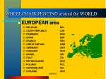wheelchair fencing around the world