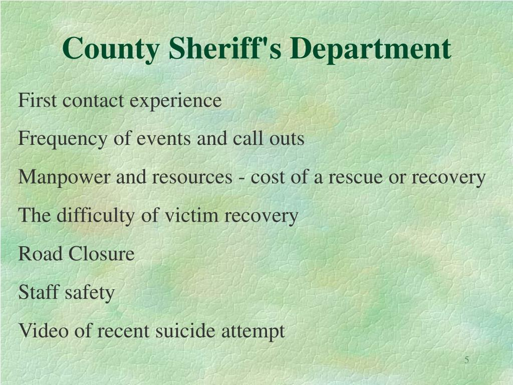 County Sheriff's Department