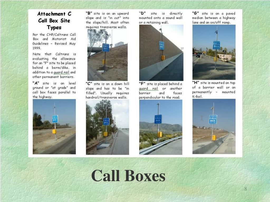Call Boxes