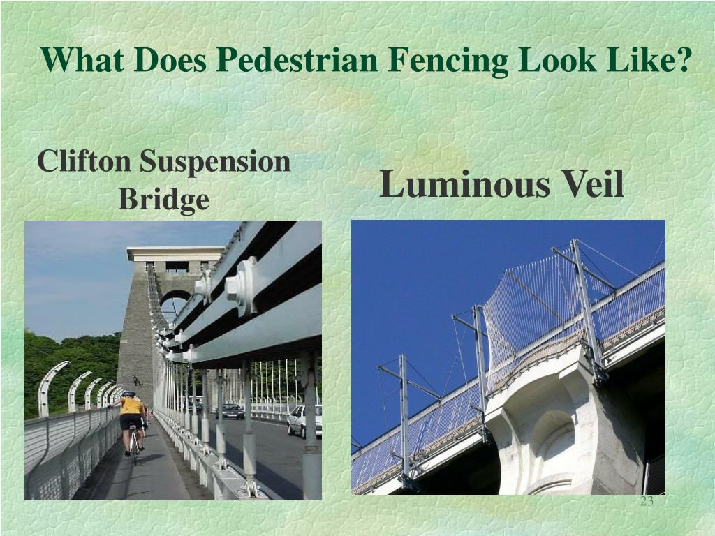 What Does Pedestrian Fencing Look Like?