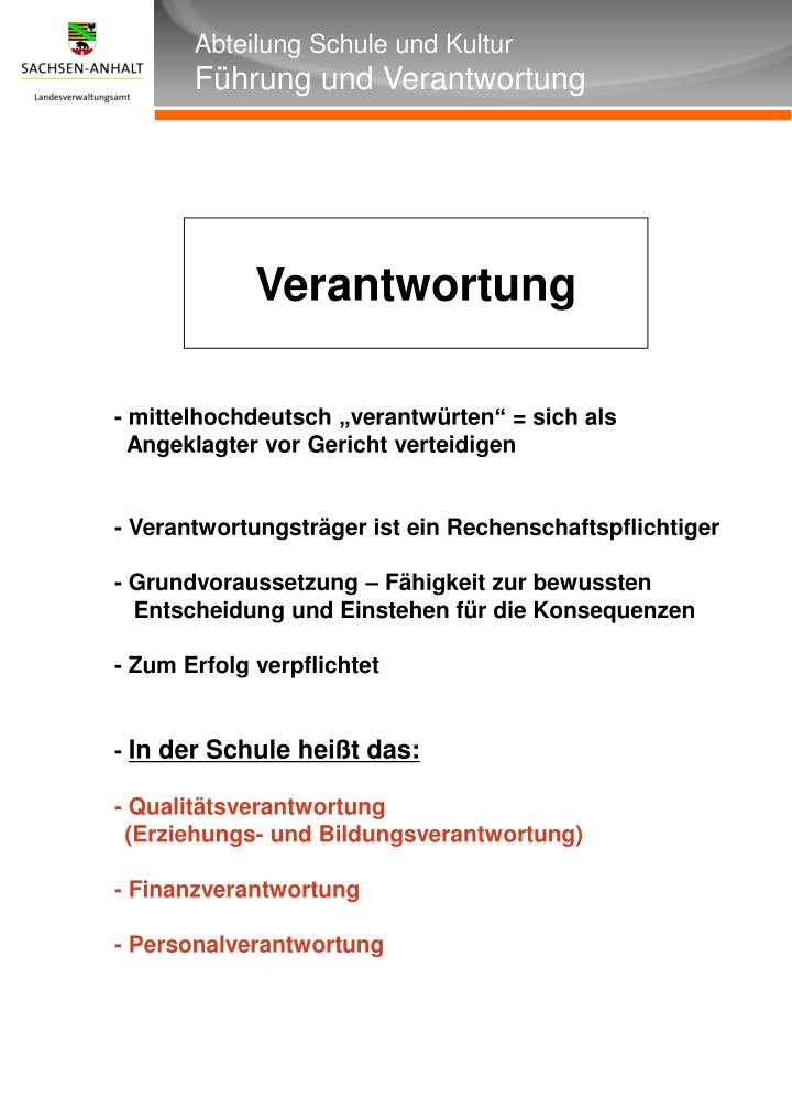 """- mittelhochdeutsch """"verantwürten"""" = sich als"""