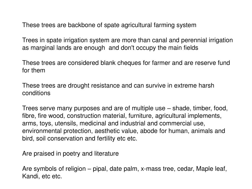 These trees are backbone of spate agricultural farming system