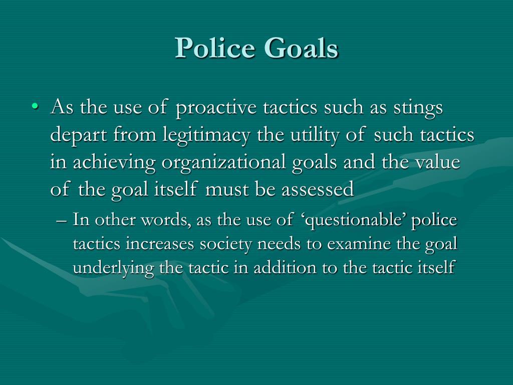 Police Goals