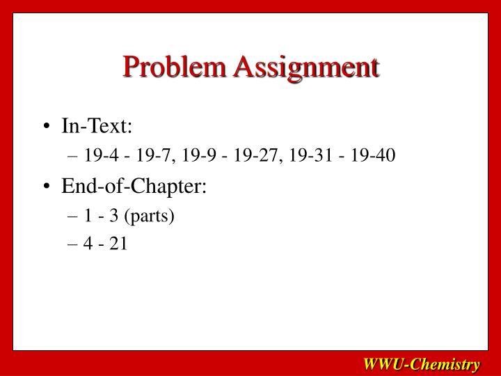 Problem Assignment