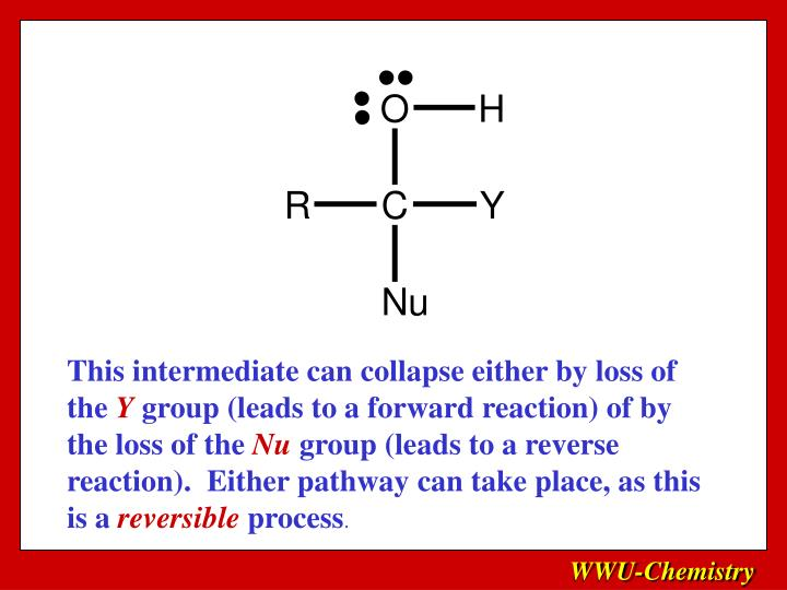 This intermediate can collapse either by loss of the