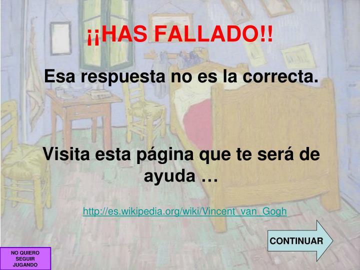 ¡¡HAS FALLADO!!