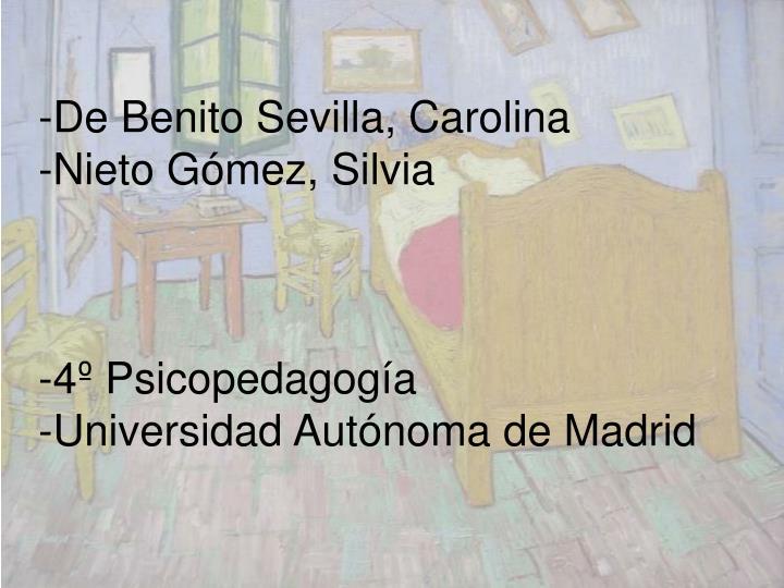 De Benito Sevilla, Carolina