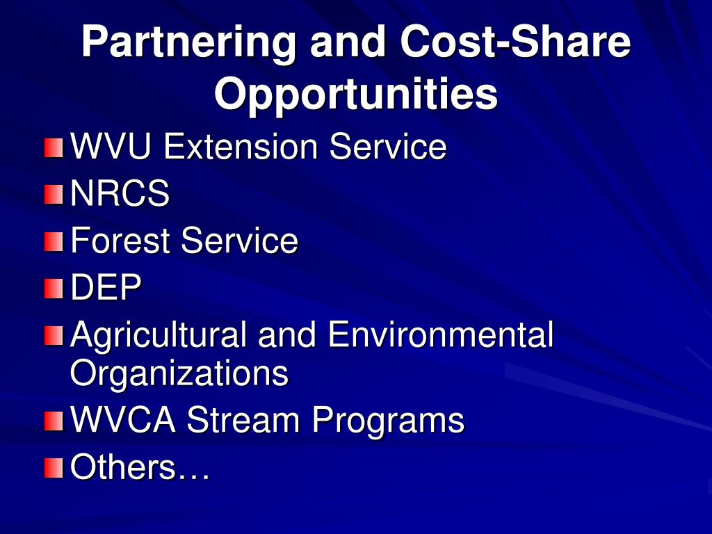 Partnering and Cost-Share Opportunities