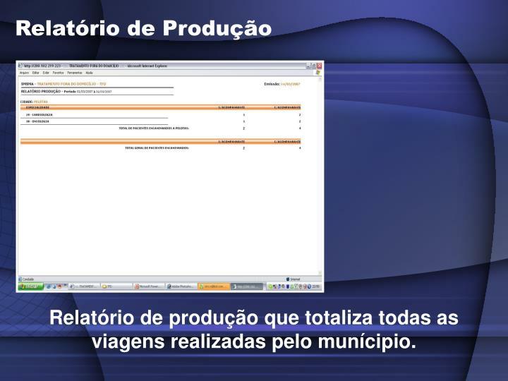 Relatório de Produção