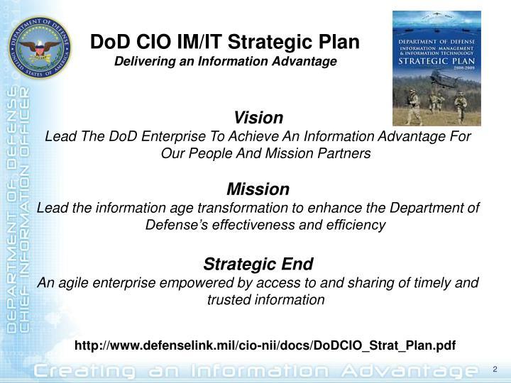 DoD CIO IM/IT Strategic Plan
