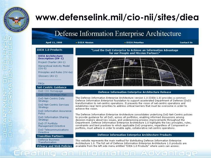 www.defenselink.mil/cio-nii/sites/diea